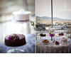 California-wedding-venue-overlooks-hollywood-hills-simple-chocolate-wedding-cake-dessert-table.square