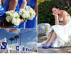 Blue-bridesmaids-dresses-sapphire-blue-bridal-heels-peep-toe-ivory-bouquets-nautical-themed-ceremony-chair-decorations.square