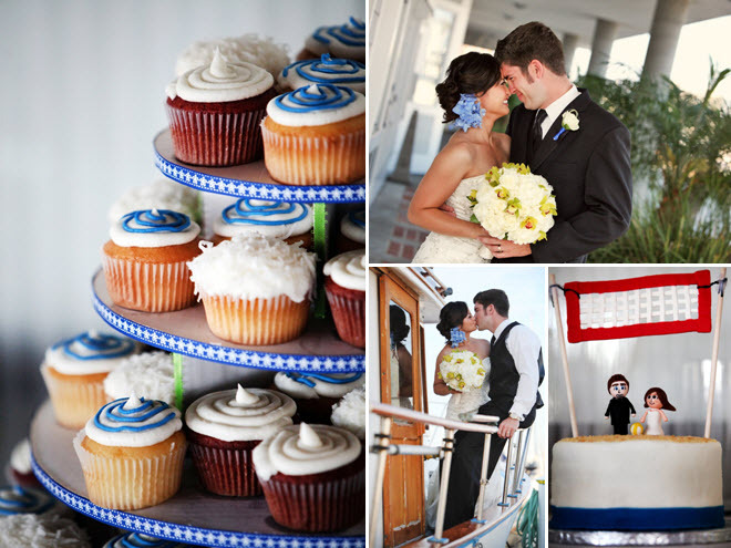 Nautical-themed-wedding-on-sailboat-cupcake-tree-wedding-dessert-blue-white-green-fun-bride-groom-wedding-cake-topper.full