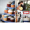 Nautical-themed-wedding-on-sailboat-cupcake-tree-wedding-dessert-blue-white-green-fun-bride-groom-wedding-cake-topper.square