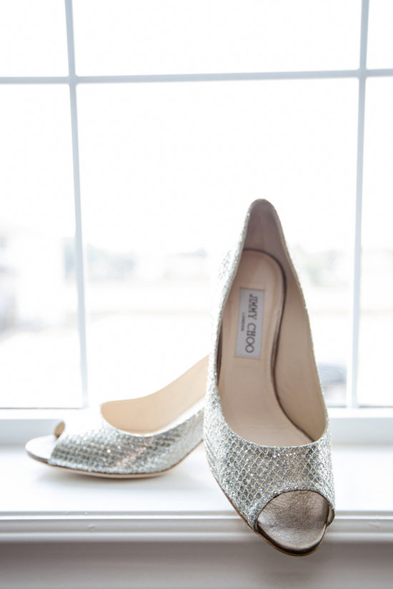 Silver Jimmy Choo Bridal Shoes