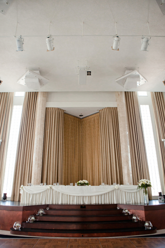 Beautiful Reception Head Table