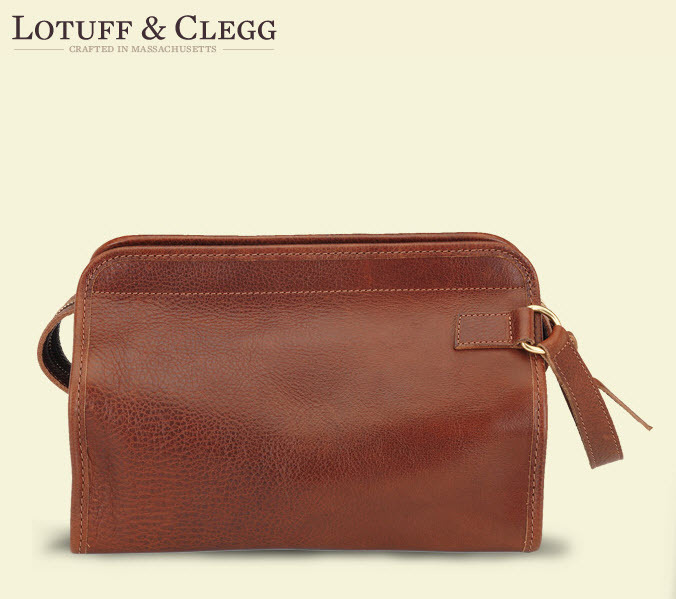 Win this luxurious leather travel kit from the fine folks at Lotuff & Clegg