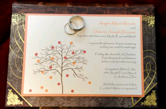 Fall Tree Invitation