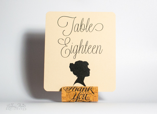 Simple Silhouettes Table Card - Female