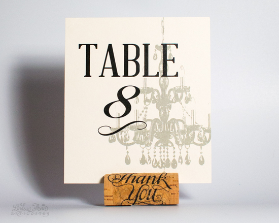 Chandelier Table Card