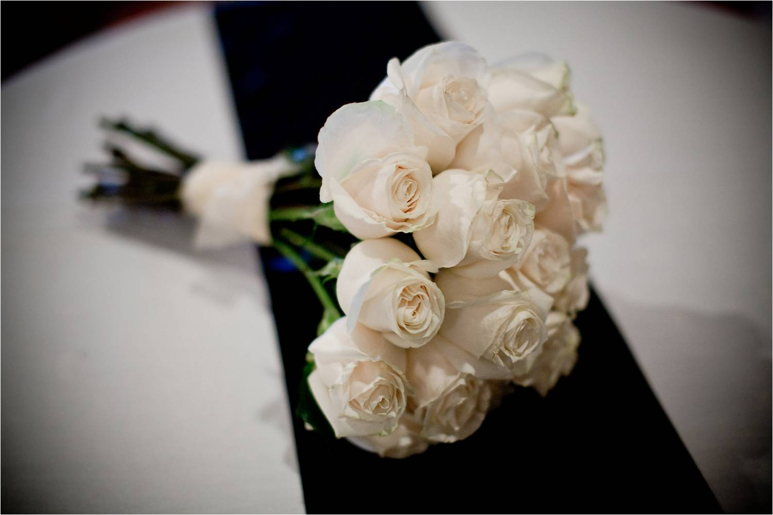 Wedding Bouquet Of White Roses Chic  sophisticated bridal
