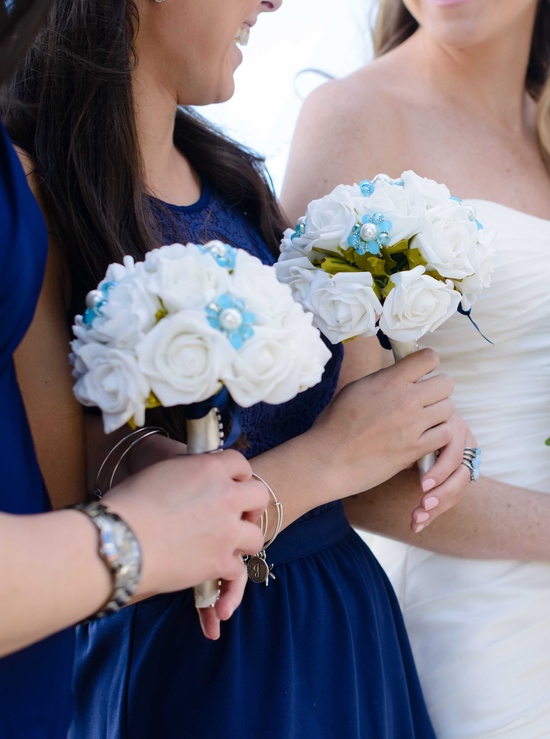 Aqua Bridesmaid Bouquet
