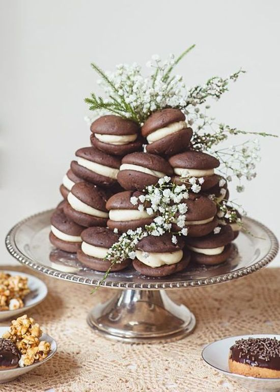 Rustic Whoopie Pies with Babys Breath