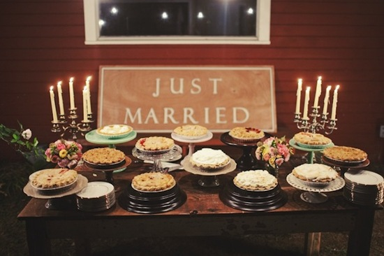 Just Married Pie Bar