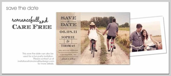 Save the Date Rustic