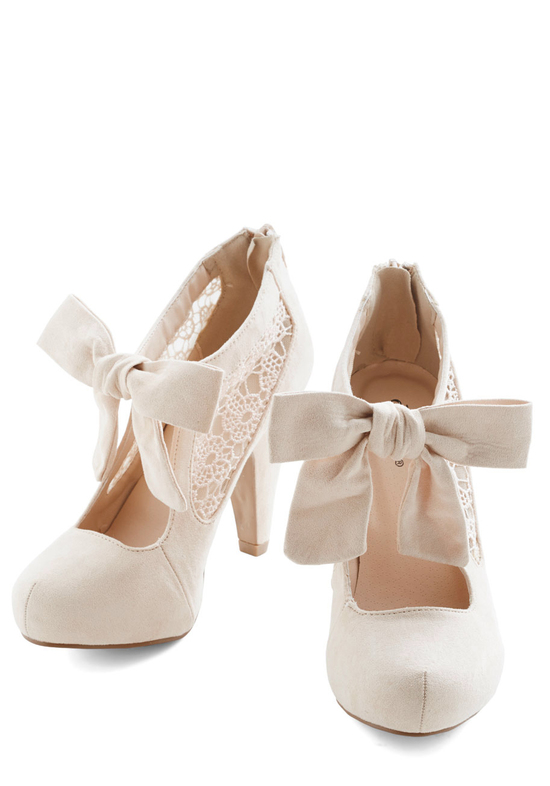 photo of Get the Trend At Any Budget: Bridal Shoes with Bows