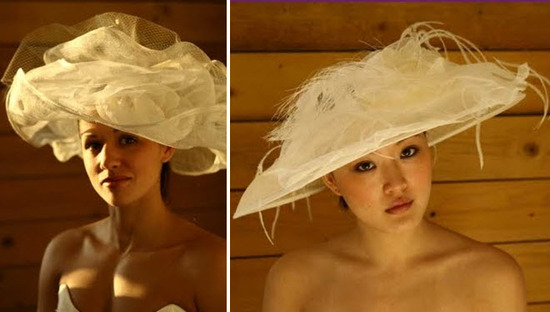 Chic bridal style- the Picture Hat, perfectly paired with almost any wedding dress silhouette