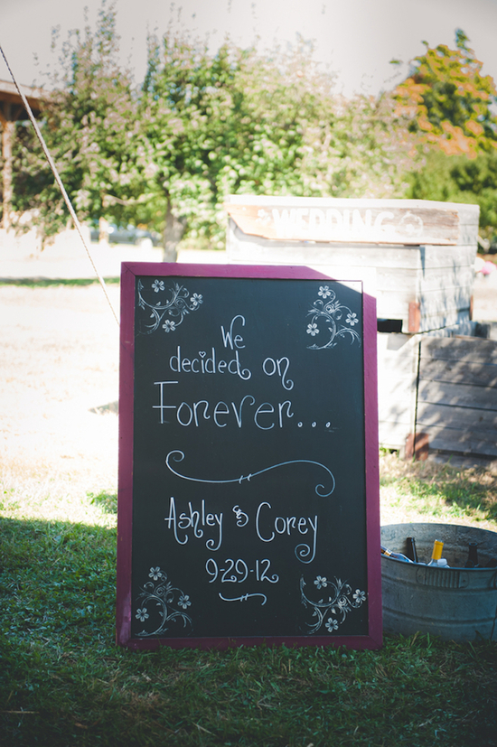 Cute Entrance Chalkboard Sign