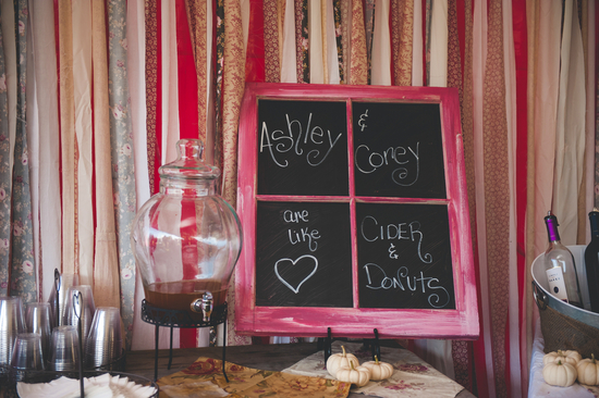 Painted Window Chalk Board Sign