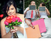 Bride-holds-hot-pink-bright-red-bridal-bouquet-roses-chalkboard-signs-to-personalize-wedding-reception-bright-wedding-color-palette.square