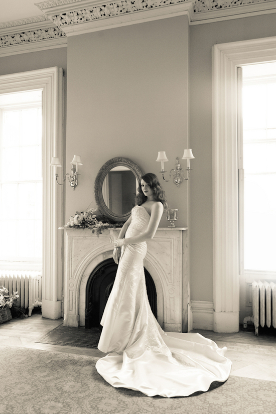 Old Hollywood Inspired Wedding Gown