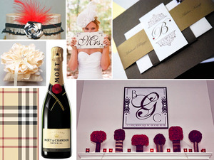 photo of Burberry-inspired DIY wedding