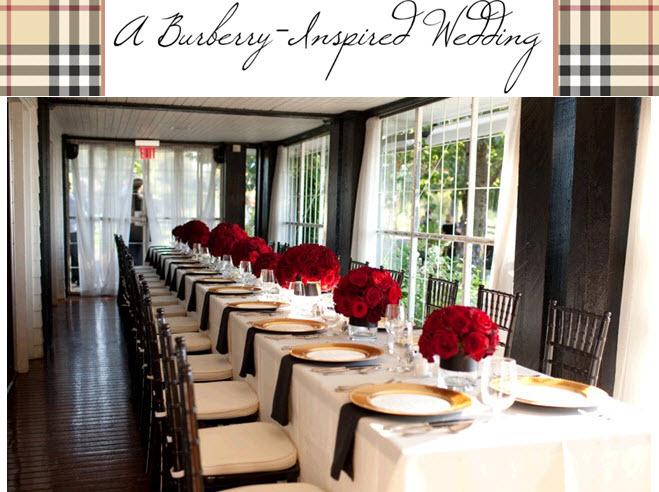 Burberry-wedding-inspiration-black-red-gold-cream-plaid-wedding-color-palette-reception-decor.full