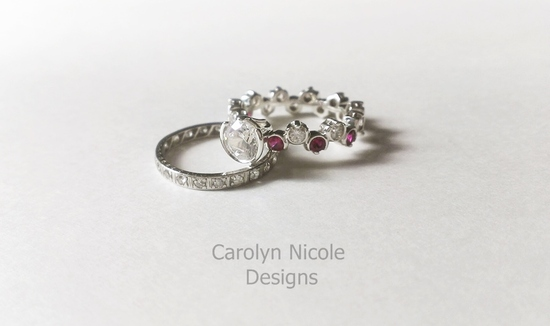 Sapphire and Ruby Ring by Carolyn Nicole Designs
