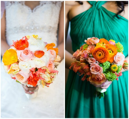 Vibrant Orange Based Bouquets