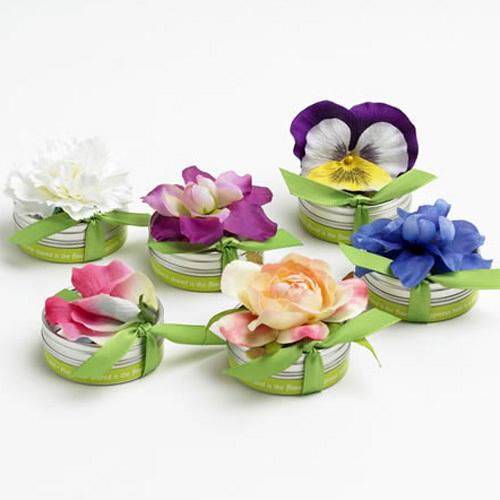 Plantable flower seed guest favors
