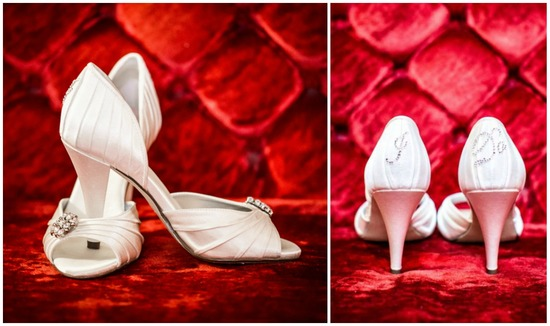 Classic White Bridal Shoes with I Do On Them