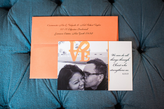 Wedding Invitations with Bible Verse as Wedding Date