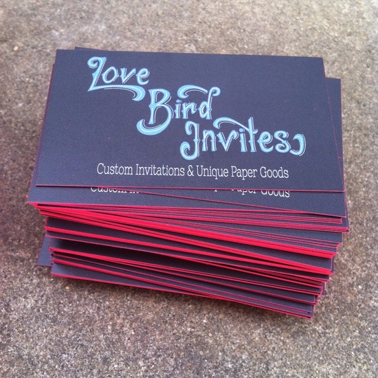 Love Bird Invites Business Card Side 2