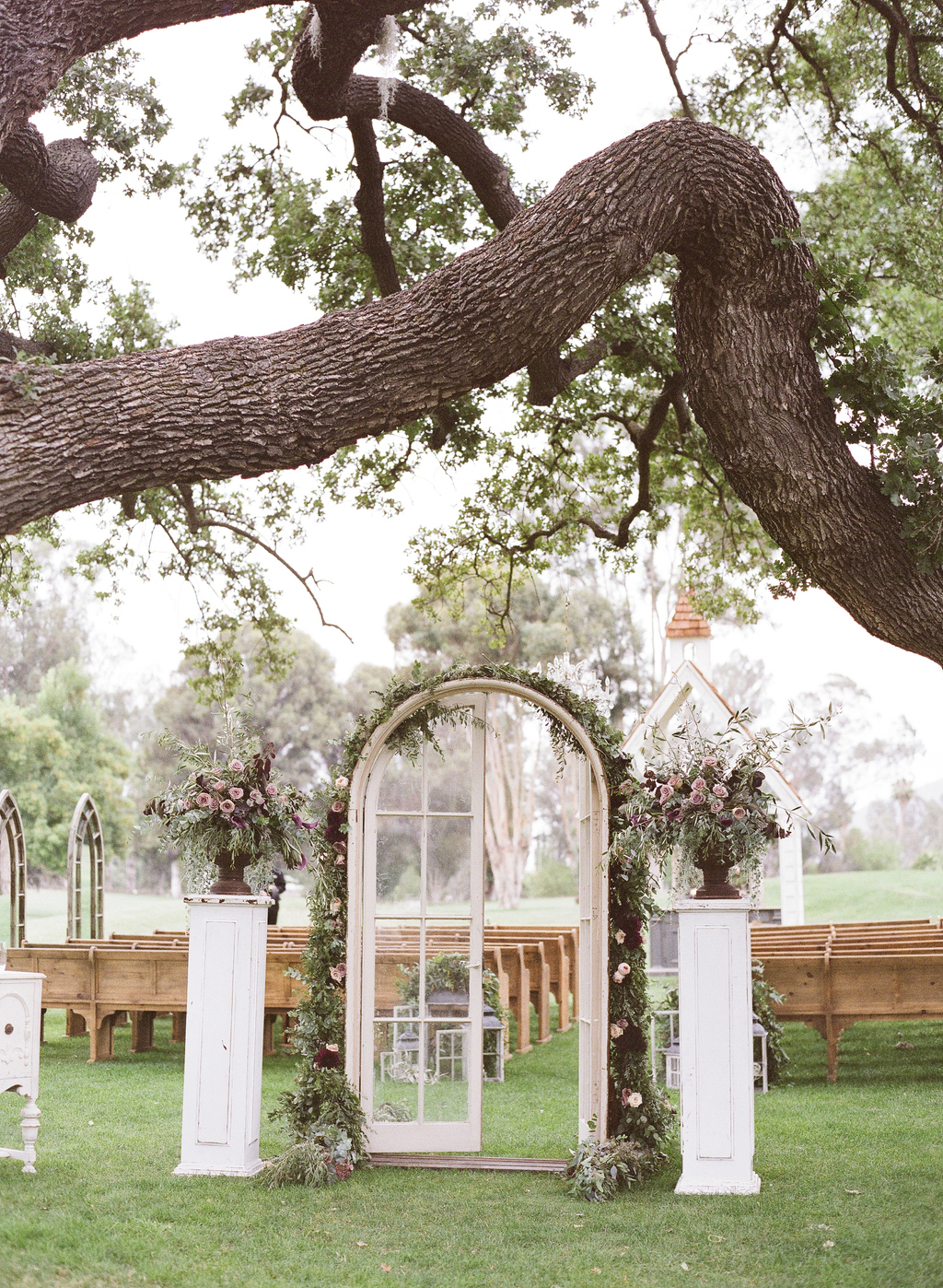 French Door Ceremony Entrance
