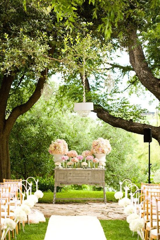 Rustic Chic Desk as Ceremony Altar
