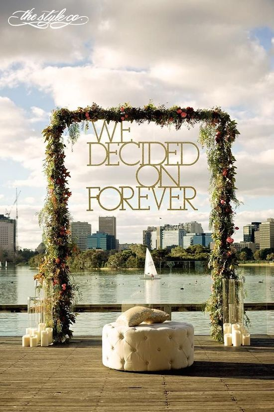 We Decided On Forever Altar Sign