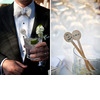 Groom-wears-black-tux-cream-bowtie-holds-cocktail-at-wedding-reception-personalized-wedding-details.square