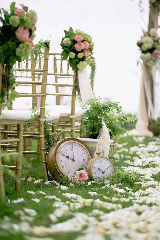 Clocks for Ceremony Aisle Decor