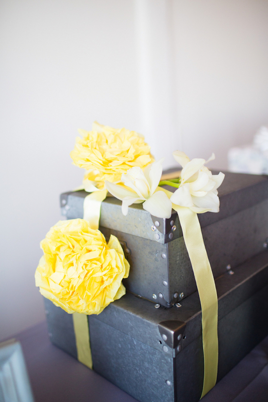 Metal Boxes for Reception Decor
