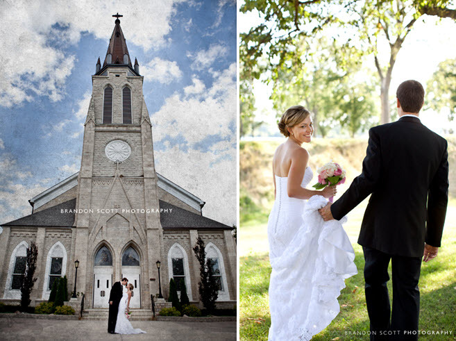 Traditional-wedding-chapel-ceremony-venue-bride-groom-kiss-outside-after-saying-i-do.full