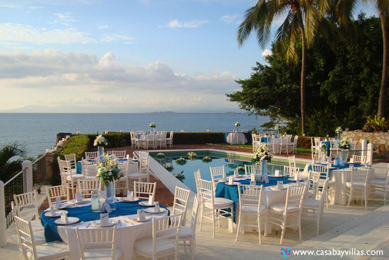 Casa Lido poolside wedding