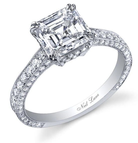 Platinum engagement ring with 3 carat center stone, given to Ali Fedotowsky on the season finale of