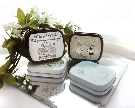 Love Birds Wedding Mint Tins