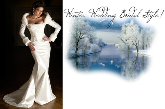 For a winter wedding, choose a wedding dress with mid-length or long sleeves