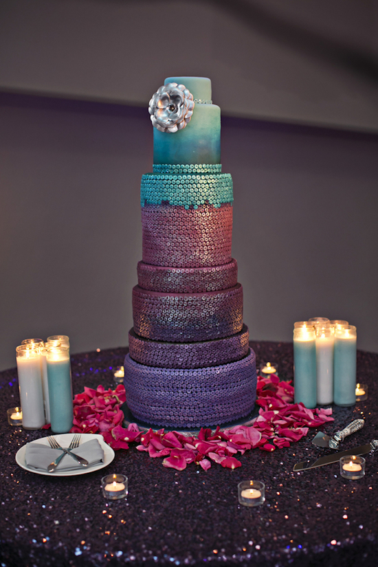 Colorful Custom Sequined Cake