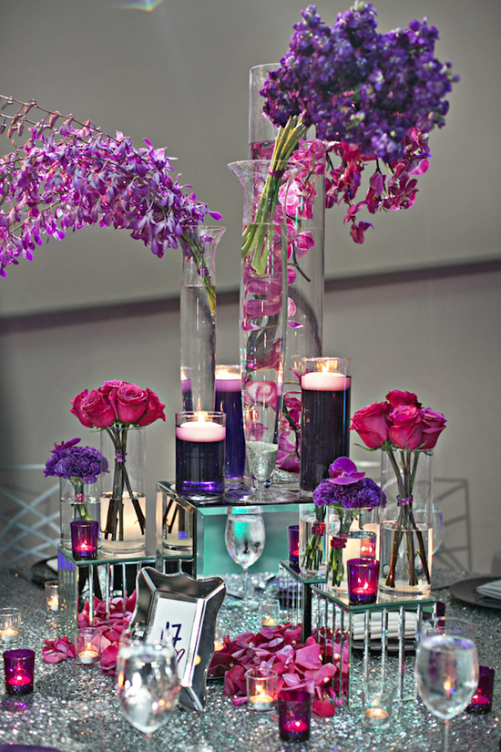 Sparkle Reception Table Decor
