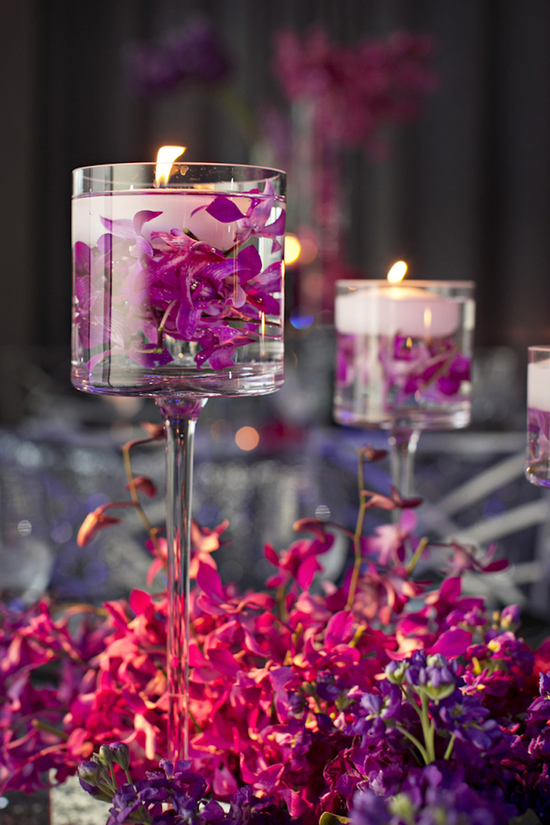 Floating Candles and Flower Petals