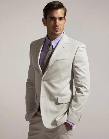 Destination-wedding-beach-ceremony-groom-attire-khaki-suit-purple-tie-shirt-spring-wedding.full
