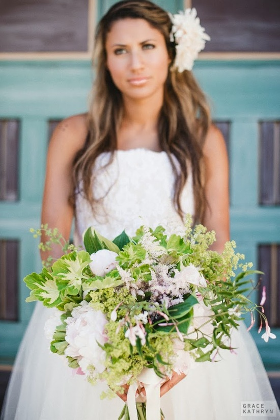 Bridal Bouquet with Lots of Greenery