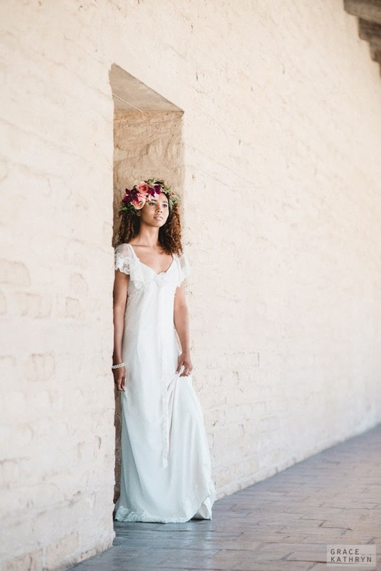 Bohemian and Feminine Wedding Gown