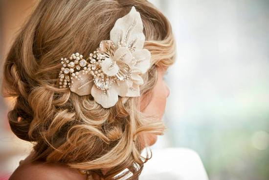 wedding hair close up