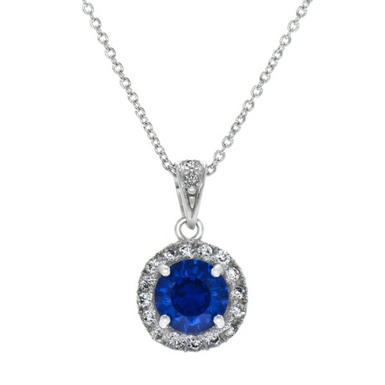 Cubic Zirconia Sapphire Pendants by My Faux Diamond