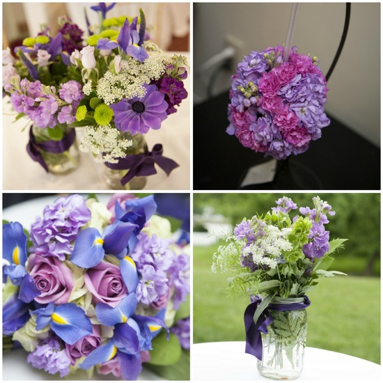 Purple Wedding Blooms