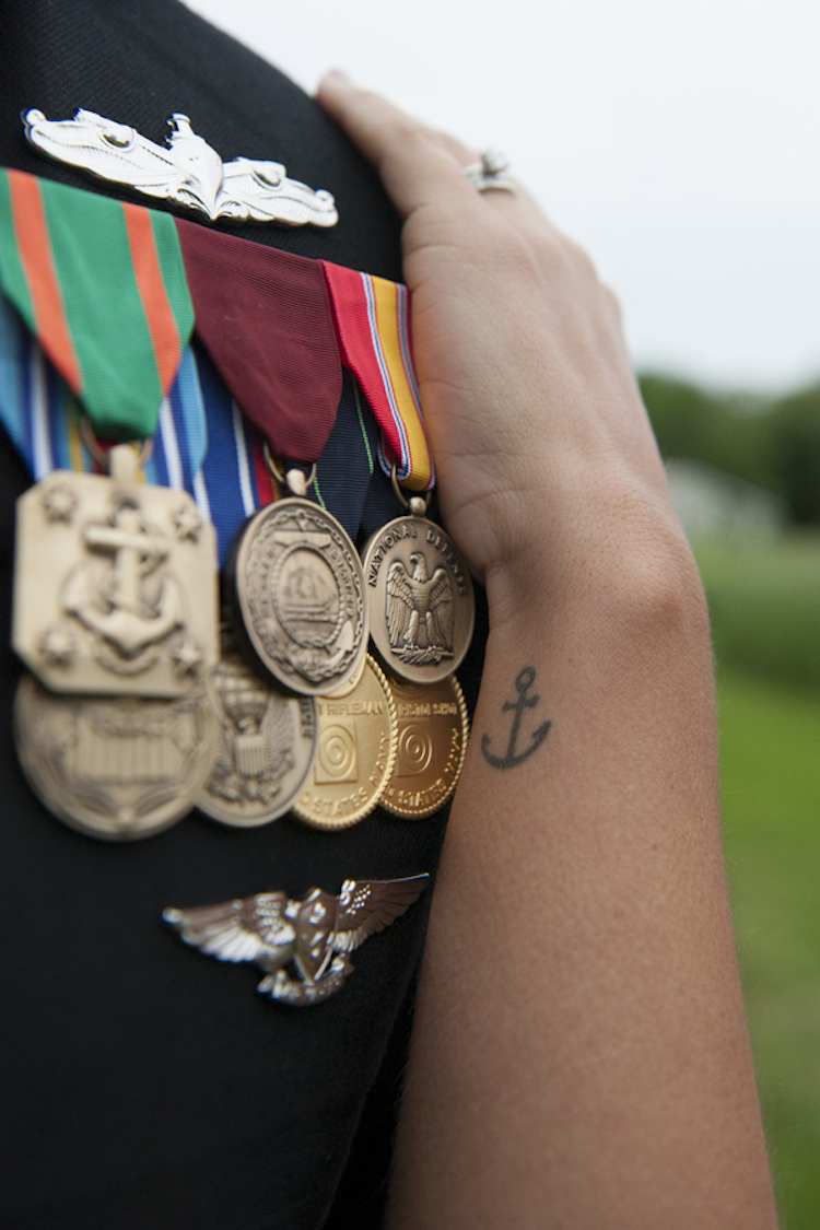 His Navy Medals and Her Anchor Tattoo
